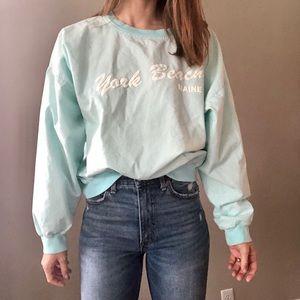 Vintage pale blue-green pullover